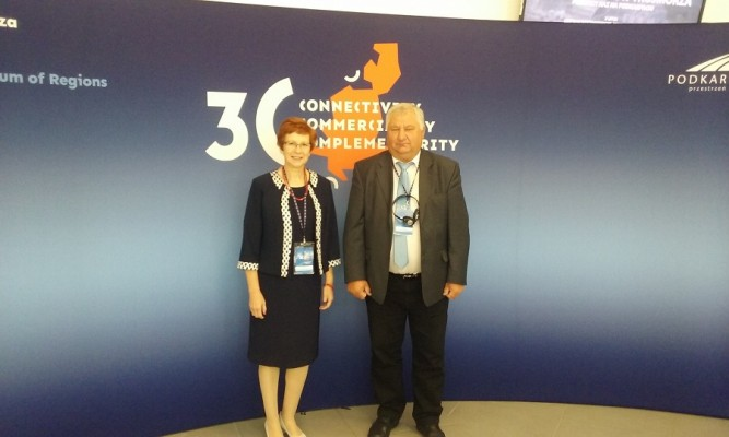W Forum uczestniczyli Radni Rady Miejskiej w Lubaczowie - Alicja Antonik i Ryszard Antonik