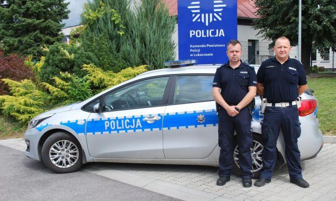 sierż. szt. Zbigniew Cwynar oraz sierż. szt. Piotr Mycio fot. KPP Lubaczów
