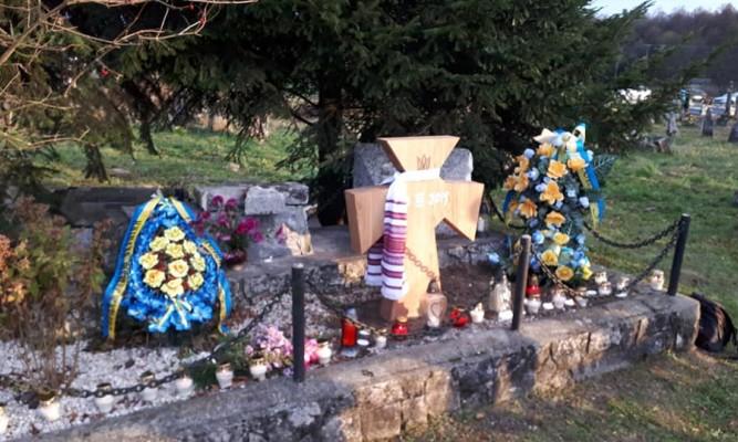 Na początku listopada odbył się uroczystości przy pomniku UPA w Werchracie fot. Piotr Tyma