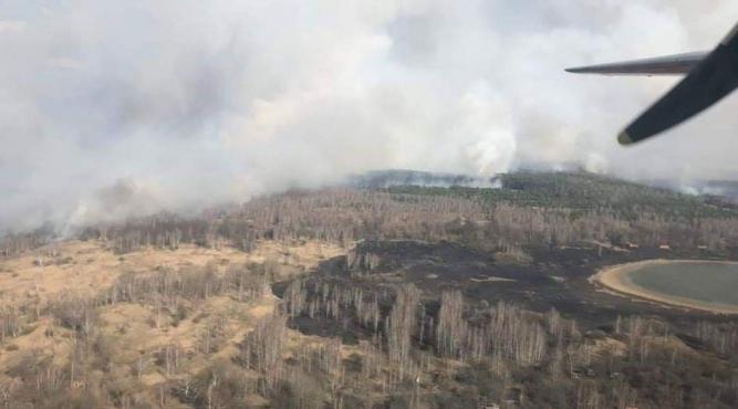 Pożar w okolicy Czarnobyla fot. wikipedia.org