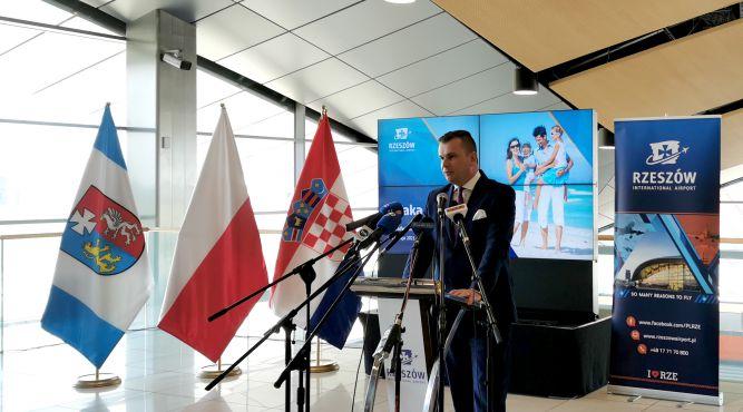 Adam Hamryszczak, prezes zarządu portu lotniczego Rzeszów-Jasionka fot. materiały prasowe