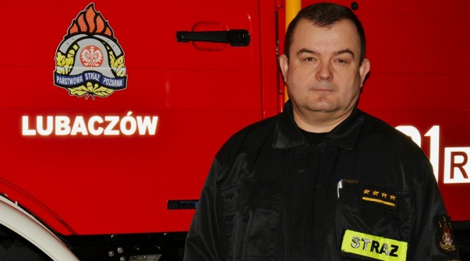 Starszy kapitan Marek Kopciuch fot. KP PSP Lubaczów