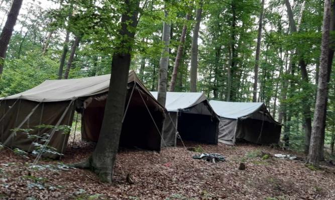 Obóz harcerski leśnictwie Czerniakowa Buda