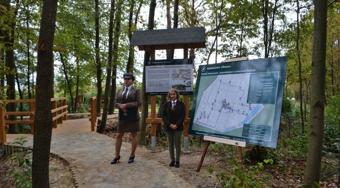 Powstała pod koniec 2019 roku ścieżka historyczno-przyrodnicza w leśnictwie Kolonia w Nadleśnictwie Oleszyce fot. archiwum zlubaczowa.pl
