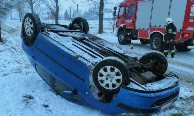 Wypadek w Piastowie fot. KPP Lubaczów